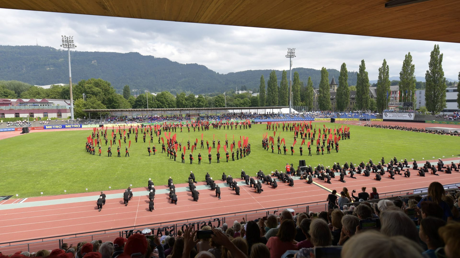 World Gymnaestrada Dornbirn/AUT 2019: large group performances, SUI01+02